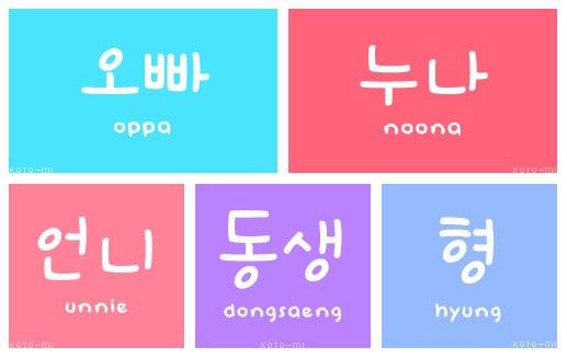 How to write little sister in korean