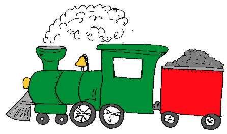 Les trains de gr goire clipart de locomotives vapeur en - Dessin train et wagon ...