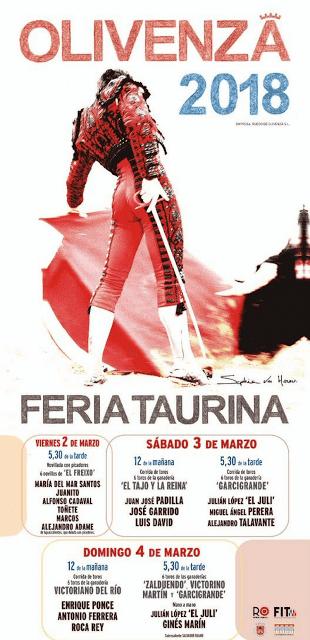 OLIVENZA - BADAJOZ (ESPAÑA) FERIA TAURINA 2018