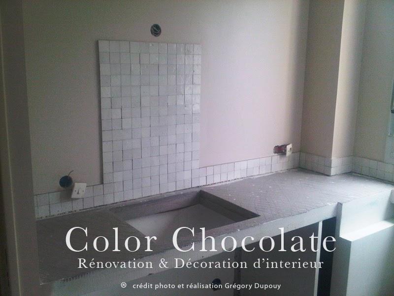 Renovation credence cuisine renovation de cuisine en for Carrelage zellige cuisine