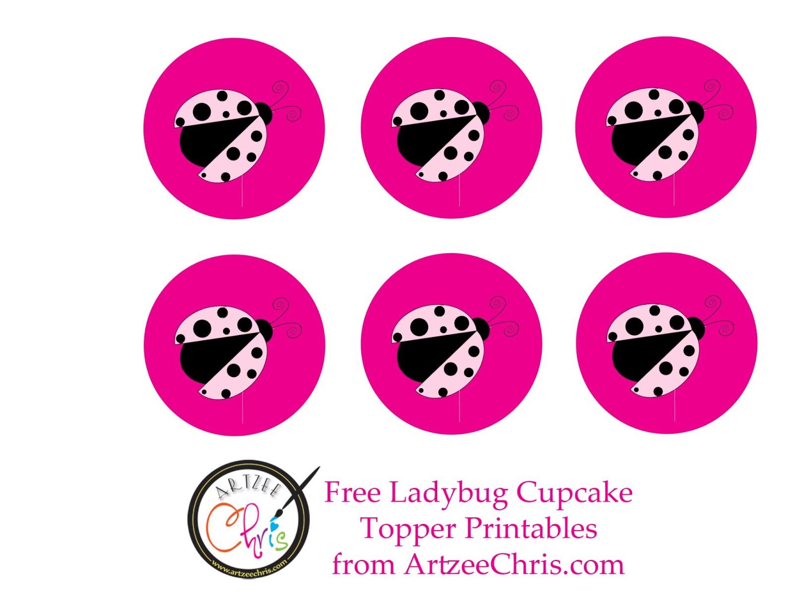 Ladybug Cupcake Decorations