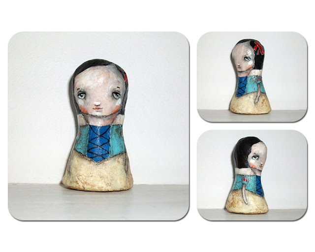 snow white clay art doll by micki wilde