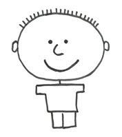 рисунок мальчика пошагово