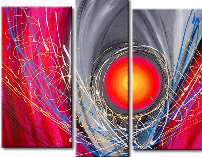 Pinturas cuadros lienzos cuadros tripticos - Pintura comedor moderno ...