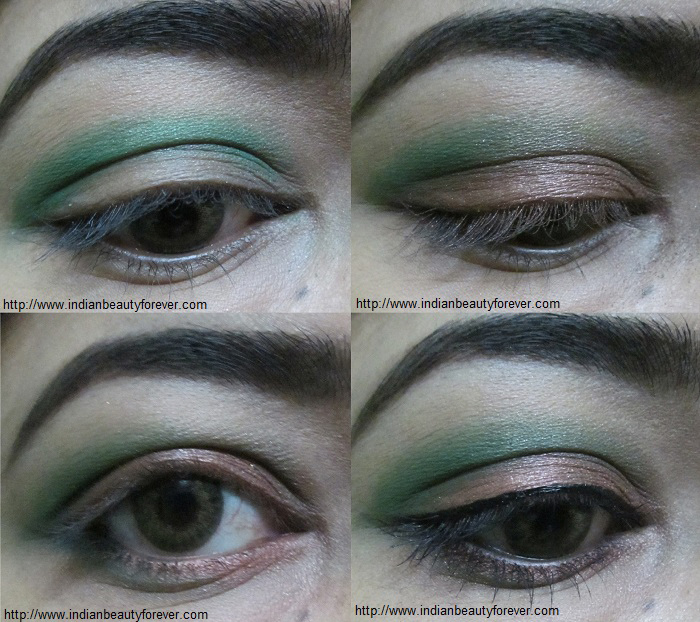step by step makeup tutorial green indian eyes