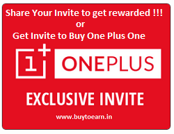 Share your One Plus One Invite to get rewarded or get invited to buy it