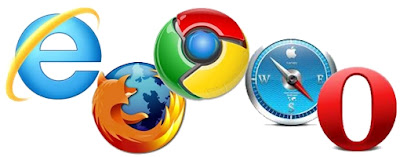 Top 10 Web Browsers of the World - Google Chrome, Mozilla Firefox, Internet Explorer, Safari Opera, Rockmelt, Maxthon, Deepnet, Sea Monkey and Avant Browser.