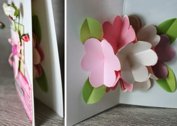 Цветы на открытке своими руками 47