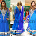 Nupur in Blue Heavy Salwar Kameez