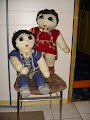gestrickte Puppen