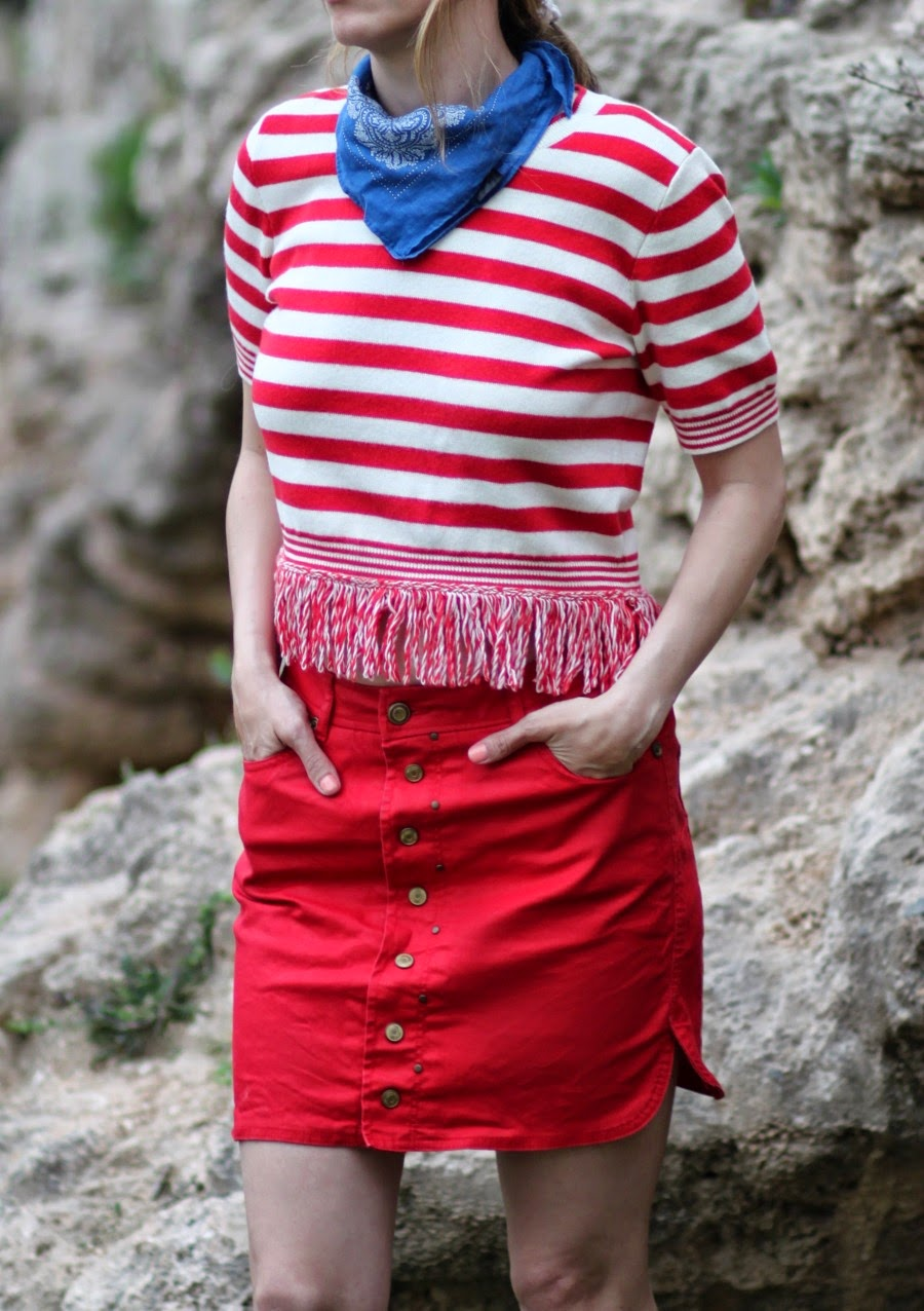 bluebandana, alinebuttonskirt, ootd, streetstyle, ss15, fashiontelaviv, fashionblog, אופנה, בלוגאופנה