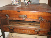 Antique chick incubator table