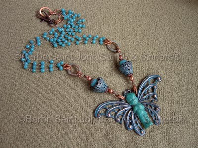 Halloween Baby Moth Man Necklace