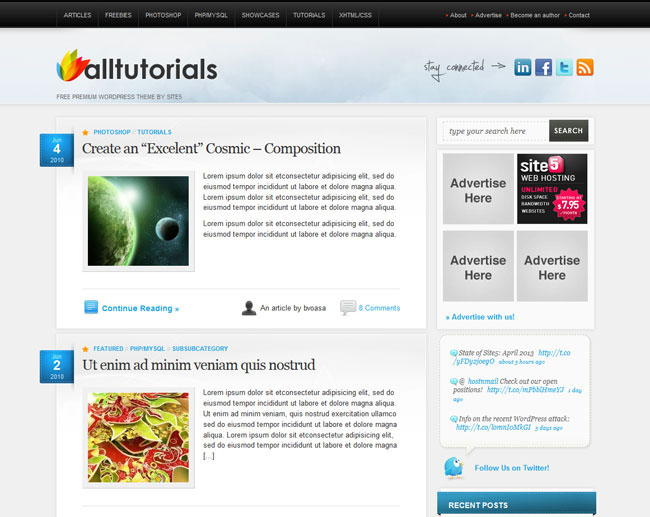 Free Magazine WordPress Themes 2013