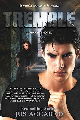 Cover Reveal: Tremble (Denazen #3) by Jus Accardo