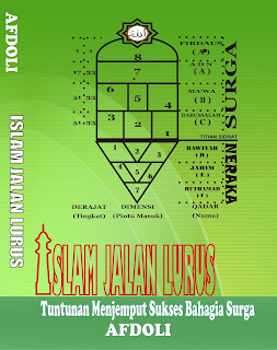 Gambaran Ilustrasi Surga dan Neraka cover buku Islam Jalan Lurus