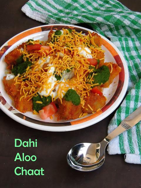 Aloo dahi chaat