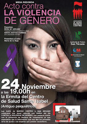 ACTO CONTRA LA VIOLENCIA DE GENERO AV. BARRIO CENTRO-AV SAN NICASIO.