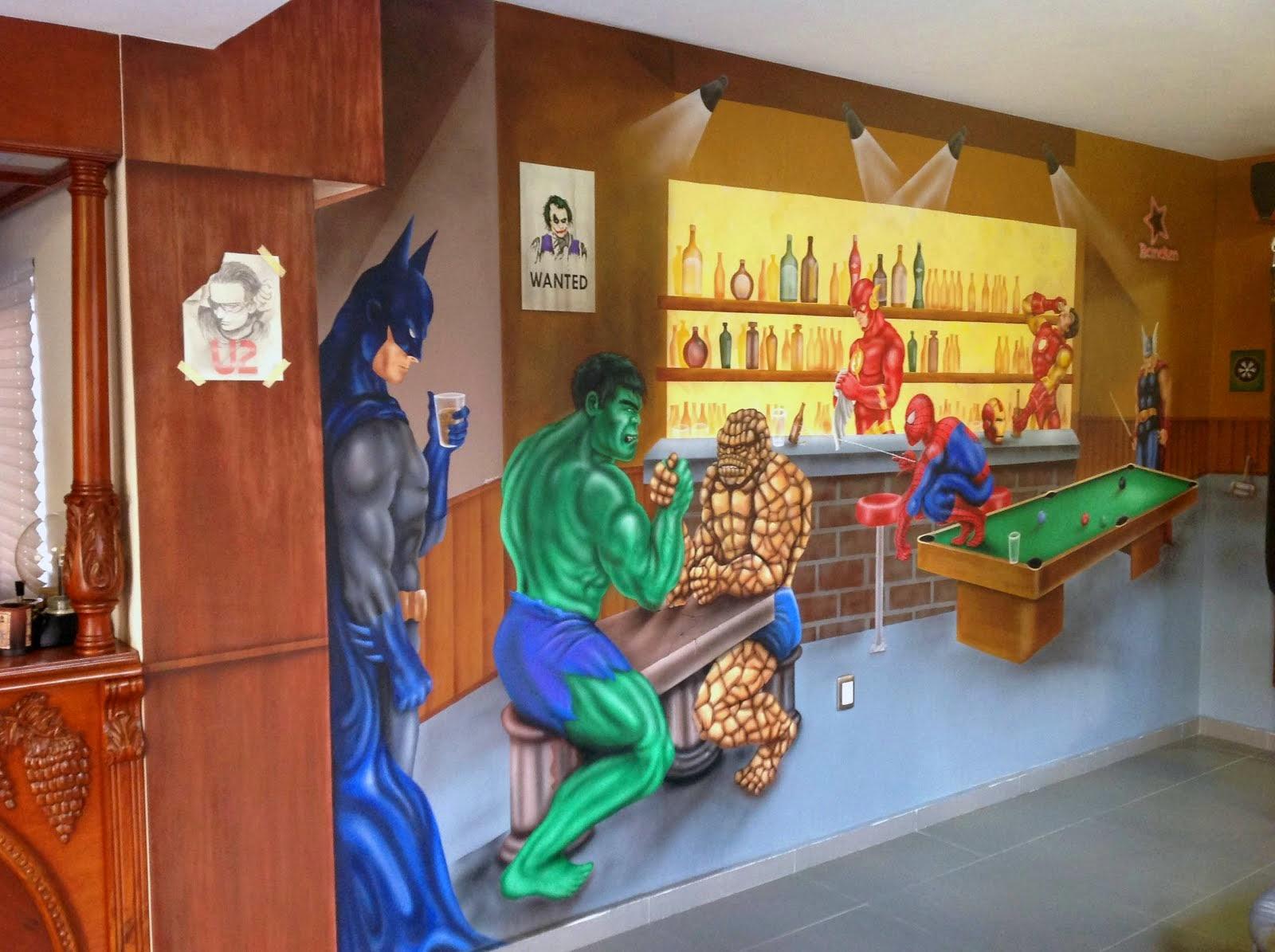 MURAL COMICS SUPER HEROES