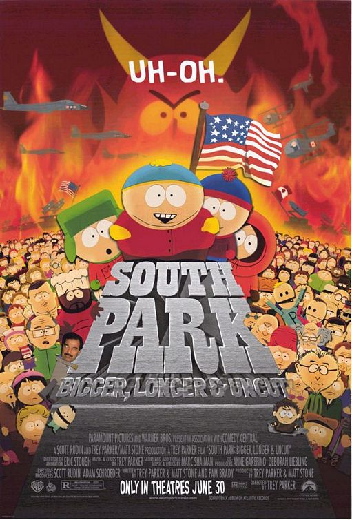 Original poster South Park: Bigger, Longer and Uncut 1999 animatedfilmreviews.blogspot.com