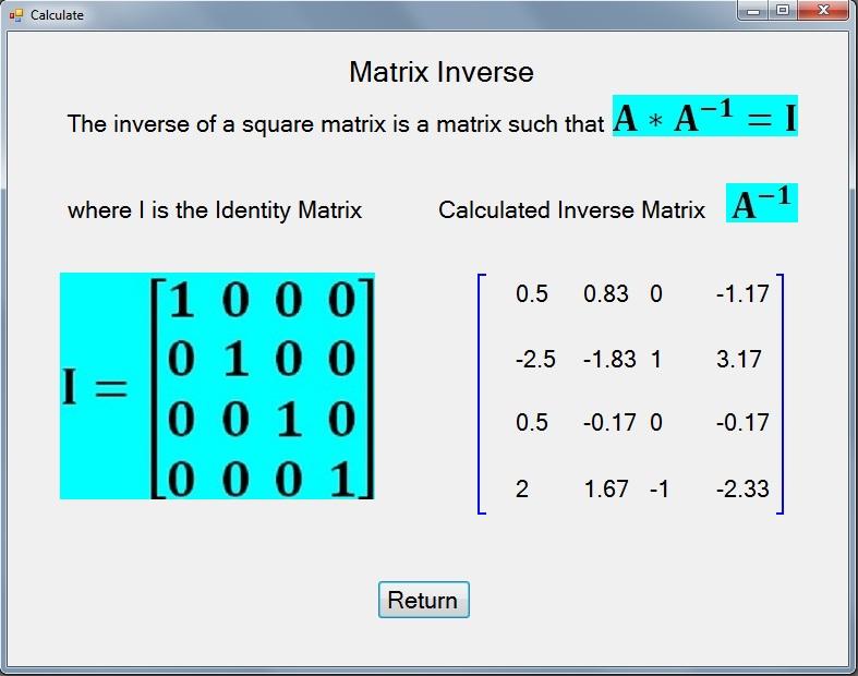 Mathematics: Matrices with Visual Studio 2008 C++ Windows ...