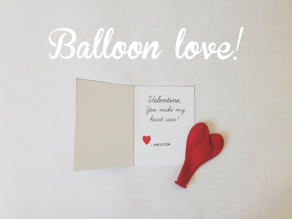 D i y valentines day balloon card shakeshakee