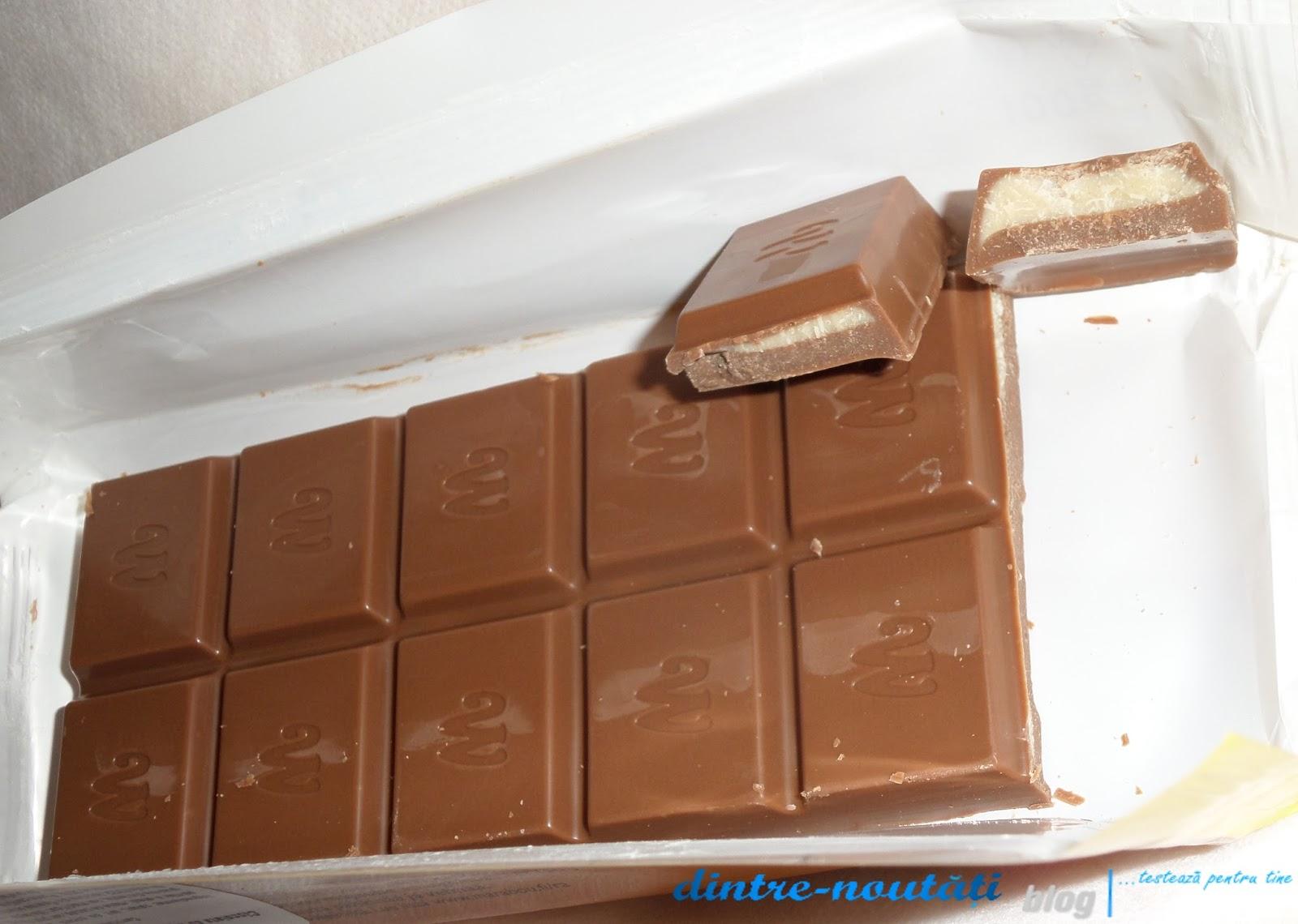 Ciocolată cu lapte și cremă cu gust de nuga