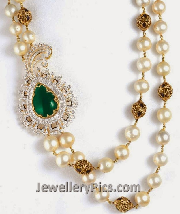 pearl and nakshi beads chain