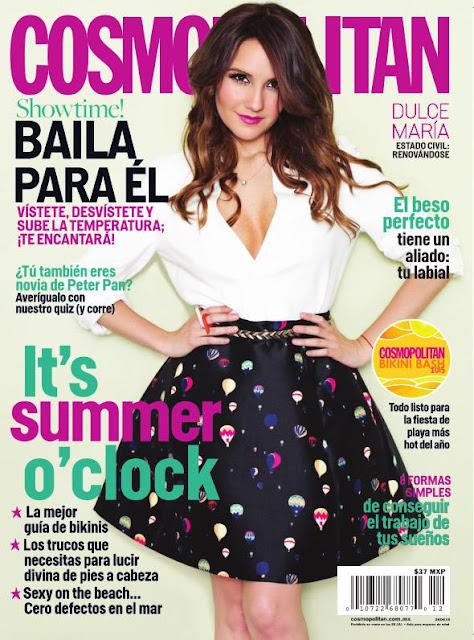 Dulce Maria es la portada de la revista COSMOPOLITAN México.