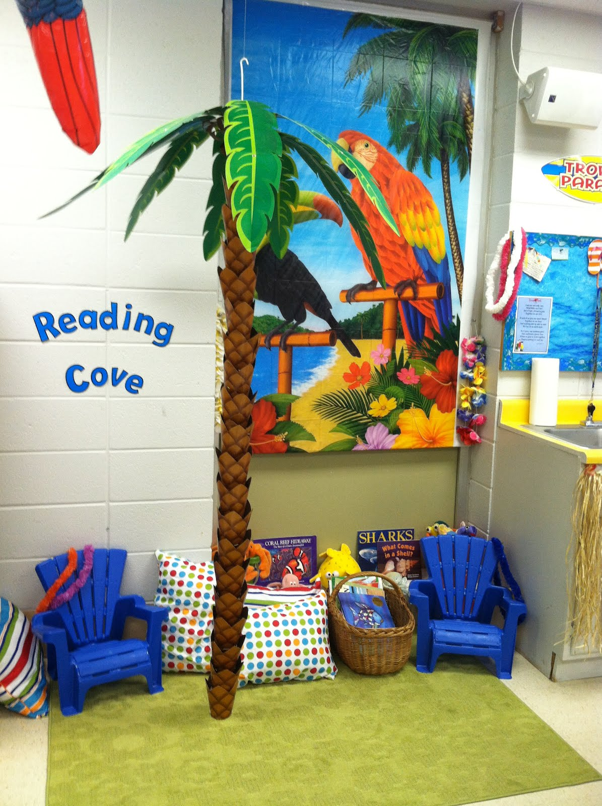 Classroom Beach Decor ~ Teaching kindergarten kiddos almost ready for the first day