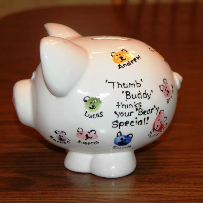 Considerate classroom early childhood special education edition personalized piggy banks great homemade baby shower gift negle Choice Image