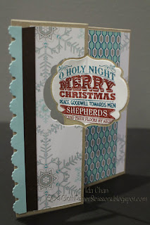 Christmas label #thinlits card by Ida Chan #Stampin'Up Vancouver