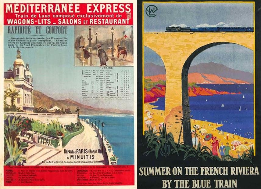 Afiche Train Bleu