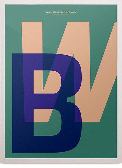 Playtype typografi plakat med bogstaver