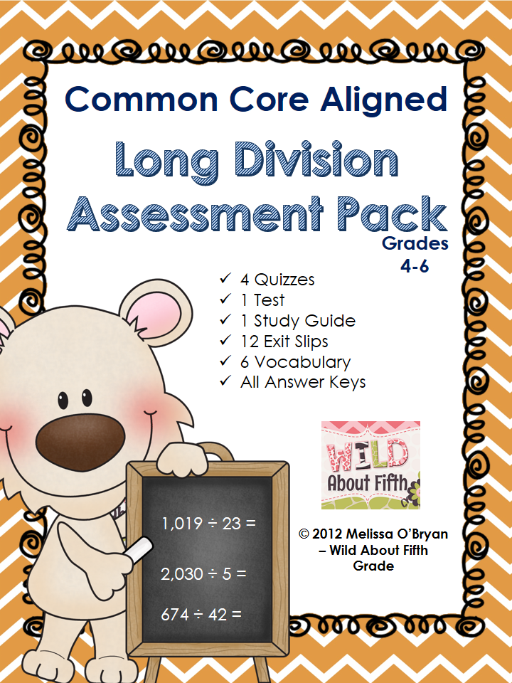 http://www.teacherspayteachers.com/Product/Common-Core-Long-Division-Assessment-Pack-467195