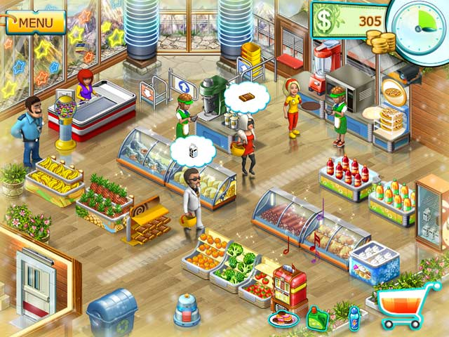 Screenshoot, Link MediaFire, Download Supermarket Mania 2 - Game House Full Version