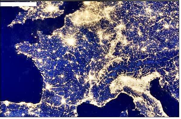 la France, la nuit