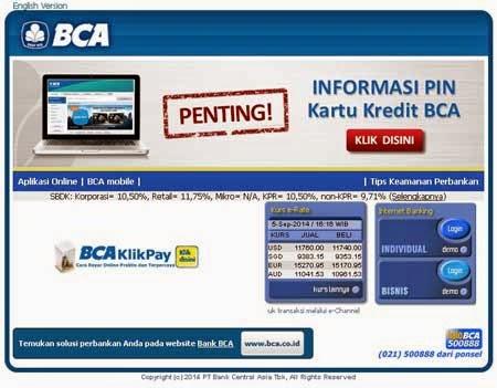 Jika Lupa User ID Dan PIN Internet Banking KlikBCA