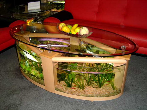 Adding Aquarium Coffee Tables In Your Living Room To