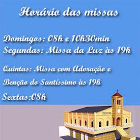 HORÁRIO DAS MISSAS