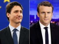 Mascot of the Month: Justin Trudeau and Emmanuel Macron