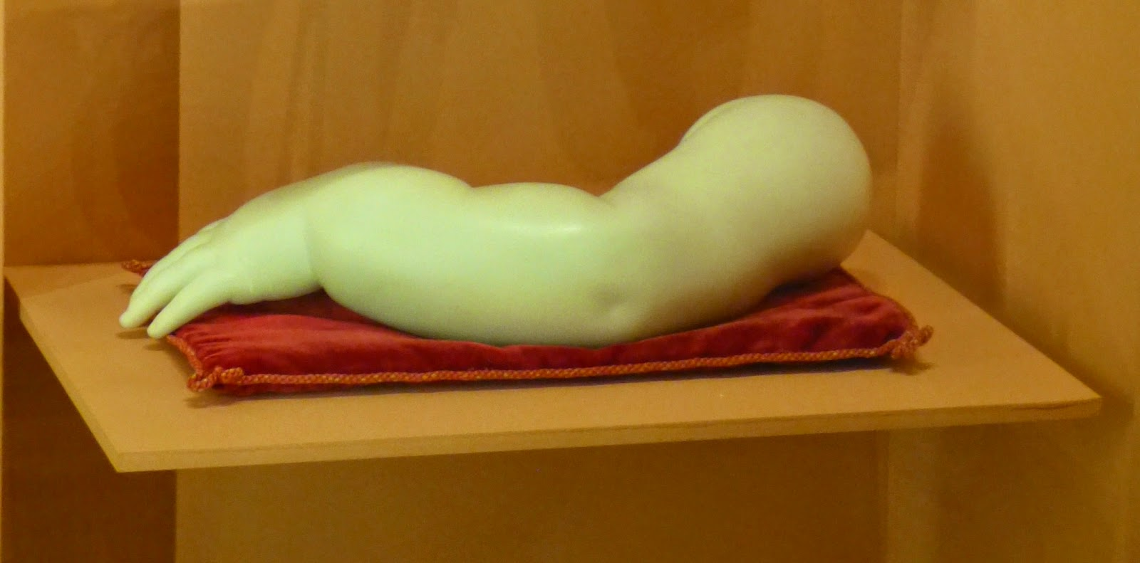 Marble carving of Prince Alfred's arm (c1845)