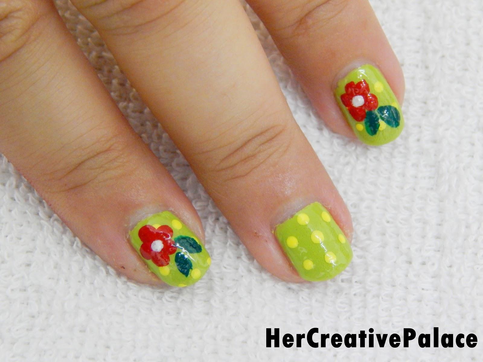 SPRING DAISY FLOWER NAIL ART – Her Creative Palace