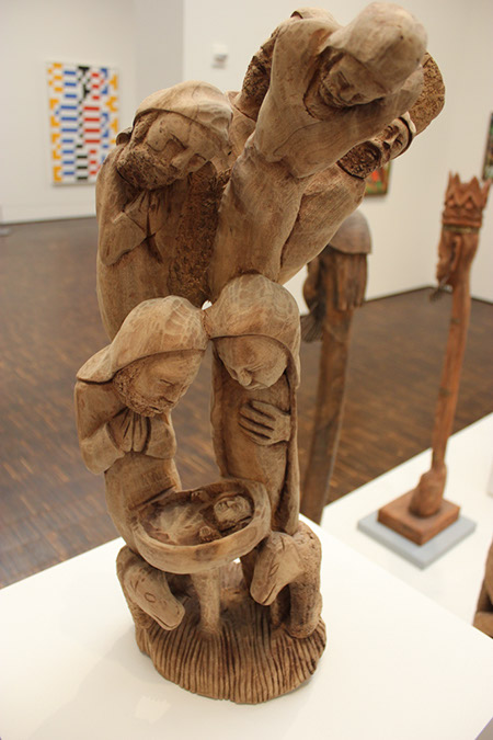 African Wood Carving by Artist Acius Joseph.