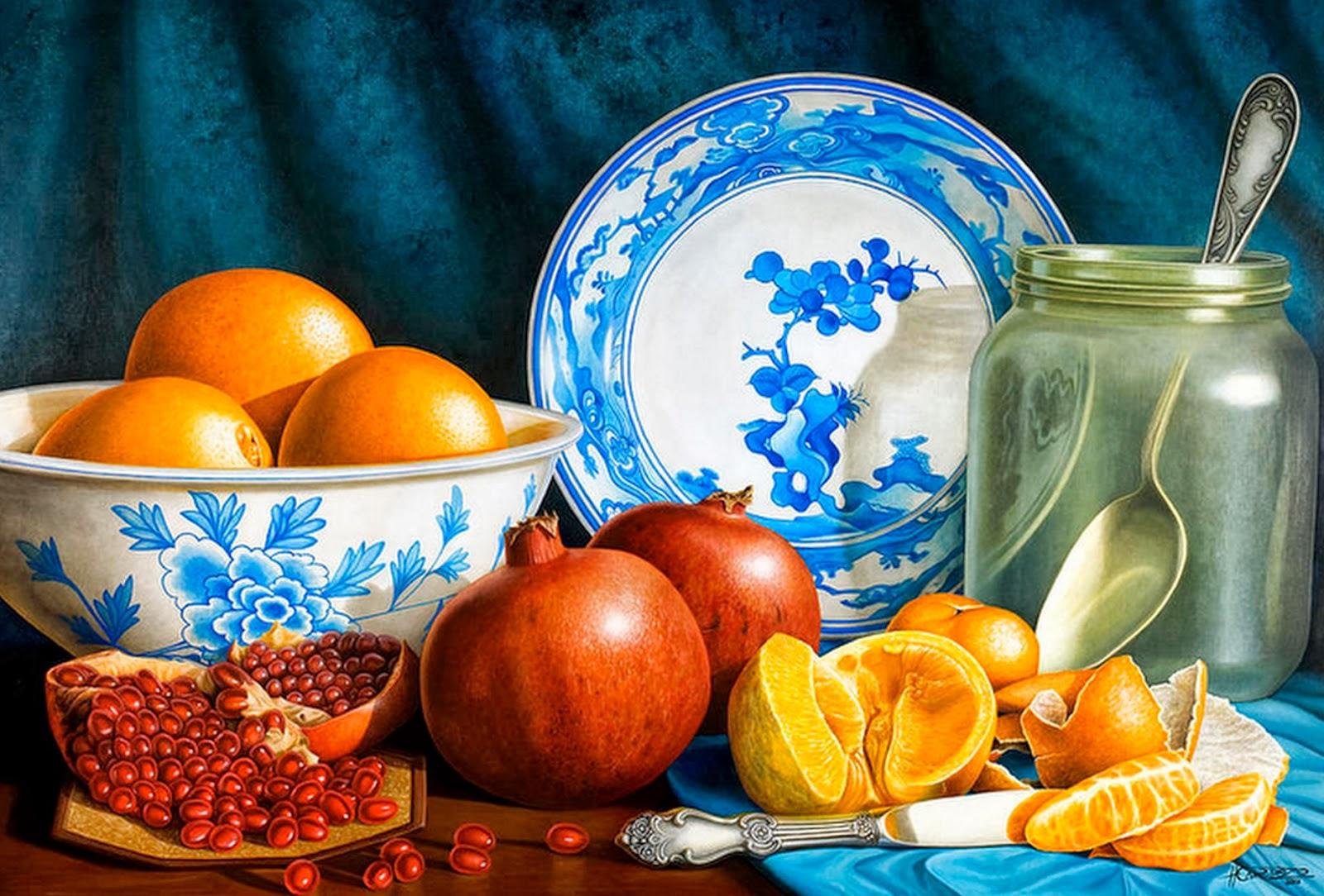Cuadros modernos pinturas y dibujos cuadros de frutas al for Cuadros al oleo modernos
