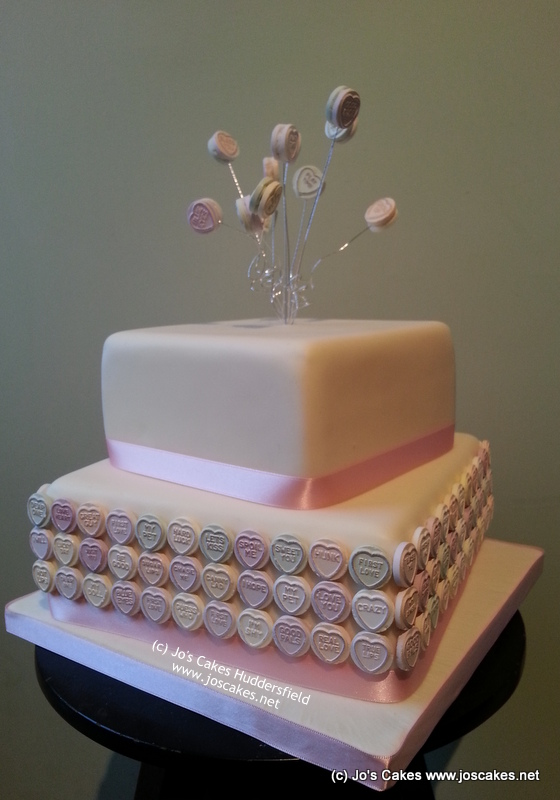 Love Hearts 2 Tier Wedding Cake