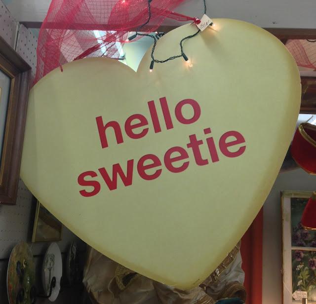 valentine's candy heart paper card via homeologymodernvintage.com