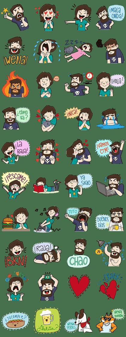 Caro y Felipe stickers