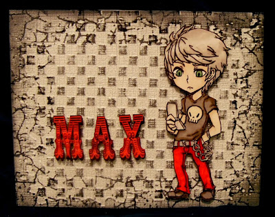 Visible Image character stamp Max Boy