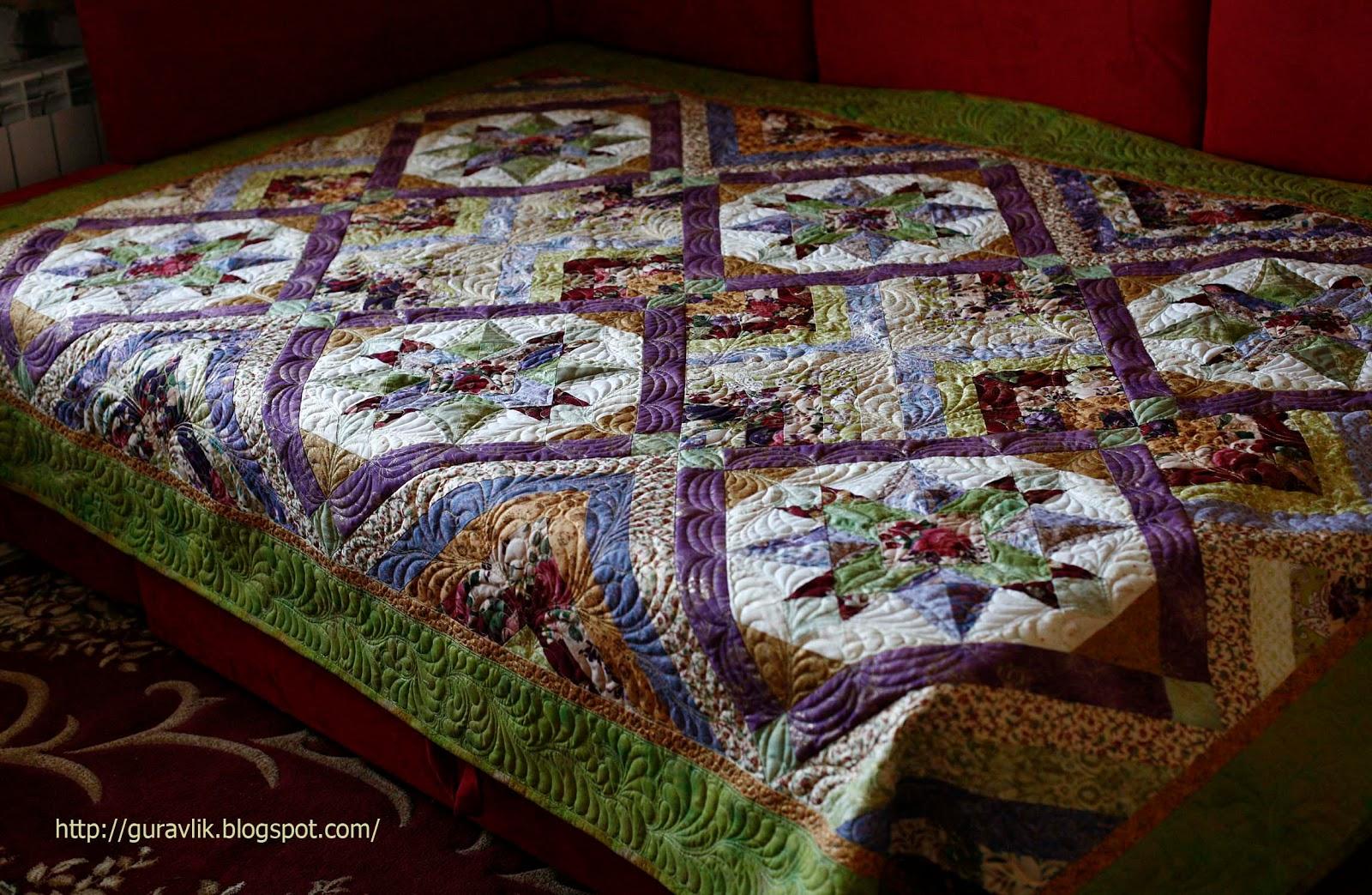Ьно простегать лоскутное одеяло мастер класс фото #10